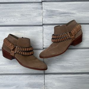 Sam Edelman Suede Posey Ankle Boots with Harness